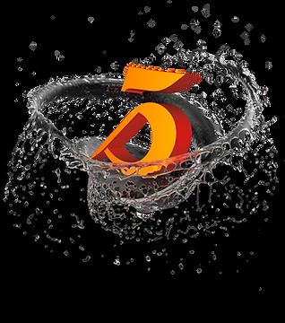 Logo 3Design in vortice di acqua