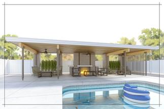 Mid-century Modern Pool House