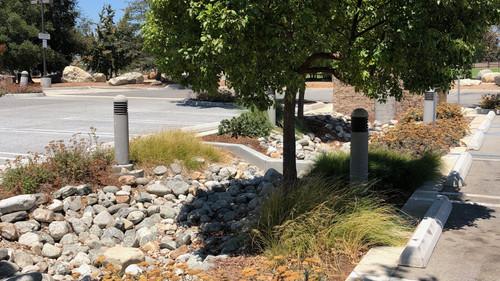Parking Lot Water Catchment & Rain Garden
