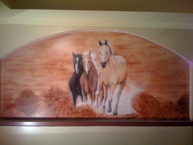 Horses - Restaurant Mural 2