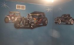 Antique Car Mural