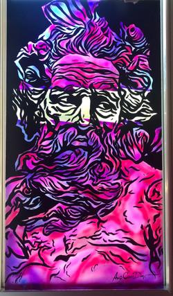 Zeus (painting on glass)