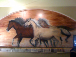 Horses - Restaurant Mural