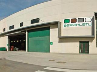 Refuerzo estructural en las instalaciones de Berziklatu en Ortuella.