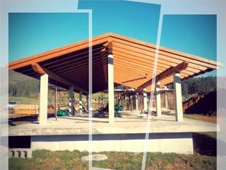 Finalizada la estructura en Larrauri.