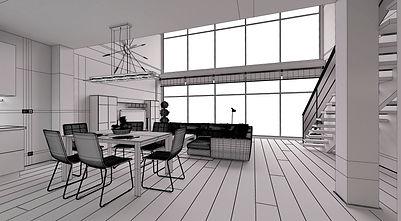 render, infografia, interior