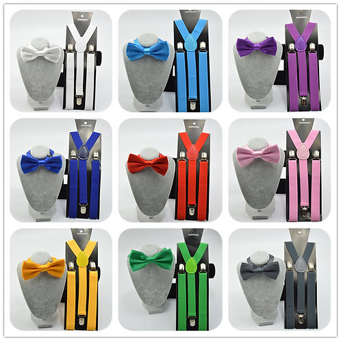 Bow ties and suspender sets 27 colors