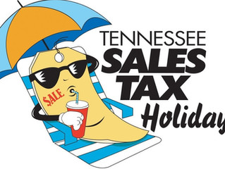 Tennessee Tax Free weekend