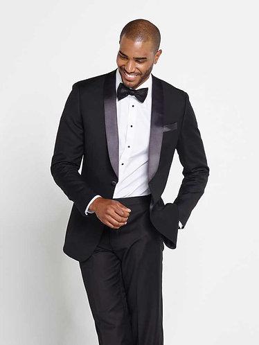 Shawl rounded collar Tuxedo