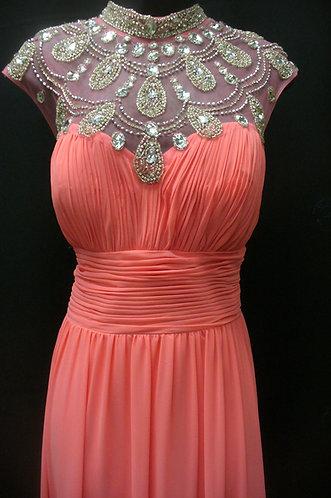 Pink floor length dress