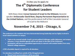 4th Diplomatic Conference for Student Leaders hosted by The Consulate General of Israel to the Midwe