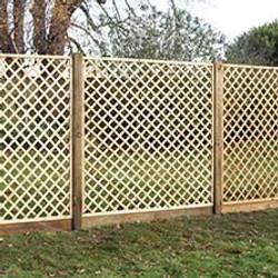 Trellis panel fencing services