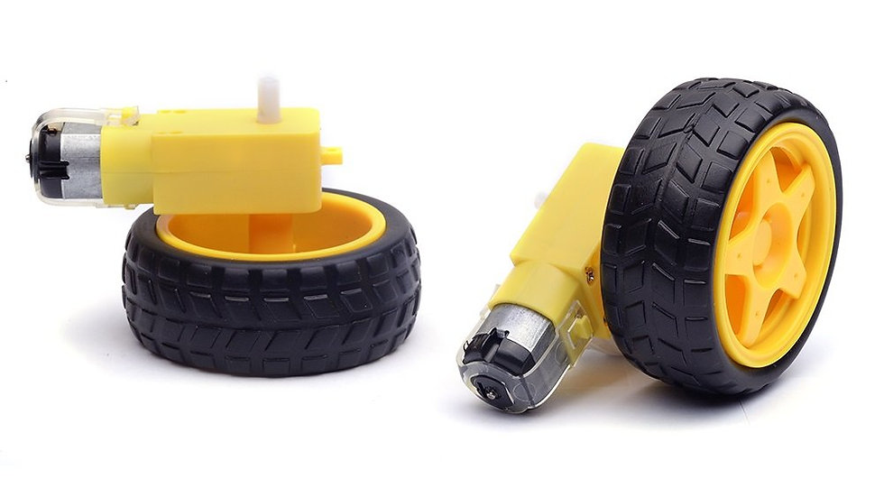 Rueda amarillas con motorreductor