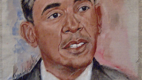 Obama acrylic on linen portrait.JPG
