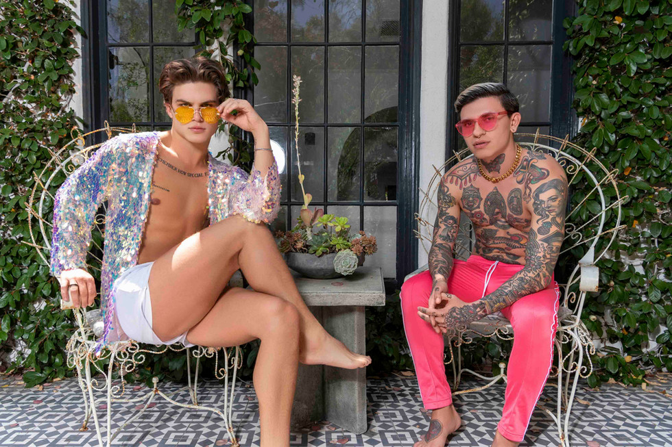 Adam and Connor Silverlake Gardens