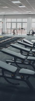 Heavy duty free weights area