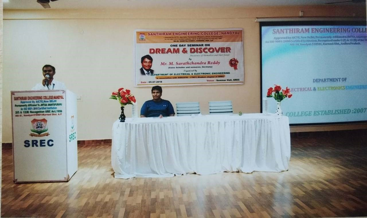 4. One day seminar on Dream & Discover o
