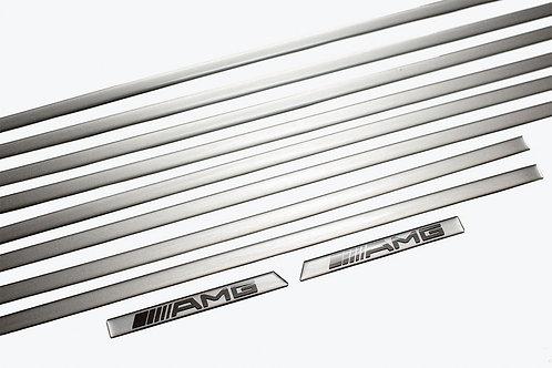 純正品 W463 Gクラス サイドモール シルバーライン (10Pcs)