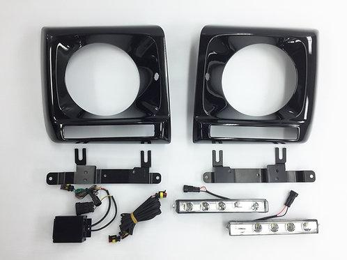 純正品 W463 Gクラス LEDデイライト付 LEDデイライトカバー  国内純正色塗装