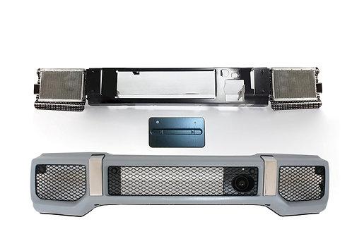 純正品 W463 Gクラス G350 右ハンドル用 フロントバンパーコンバージョンキット日本仕様ナンバー台付