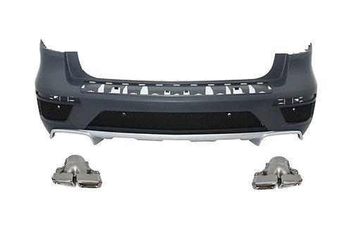 純正品 X166 GLクラス AMG GL63 リアバンパー+リアディフューザー+マフラーエンド