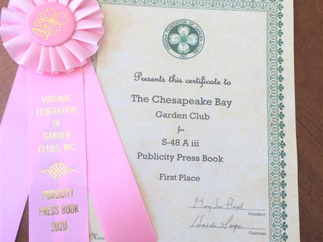 Our Garden Club Earns Awards!!