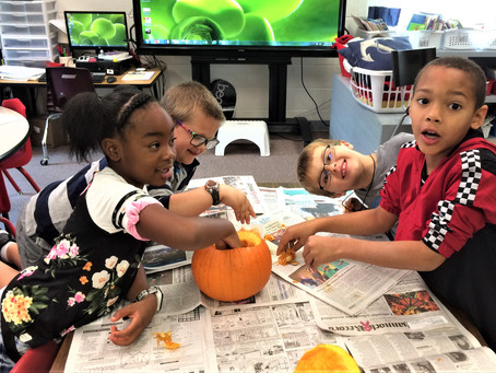 Seeds, Pumpkins and First Graders!