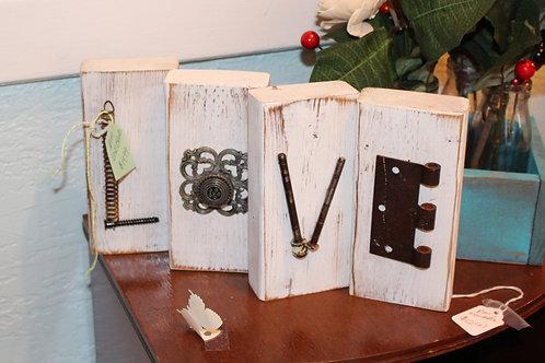 Handcrafted LOVE Blocks