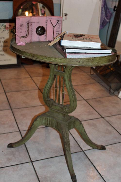 Antique 1920's Mersman Duncan Phyfe Style Harp Table