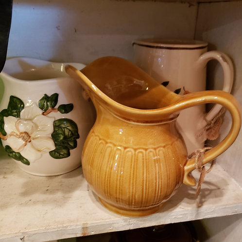 Small Gold Vintage Pitcher