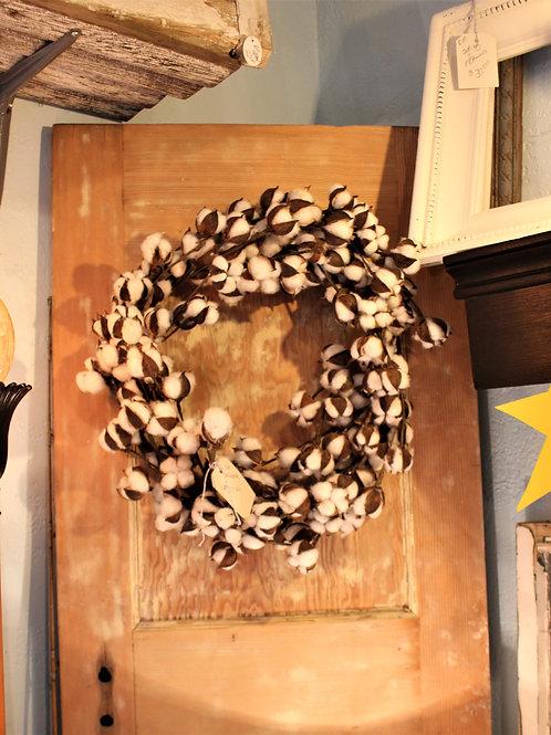 "Large 20"" Full Cotton Wreath"