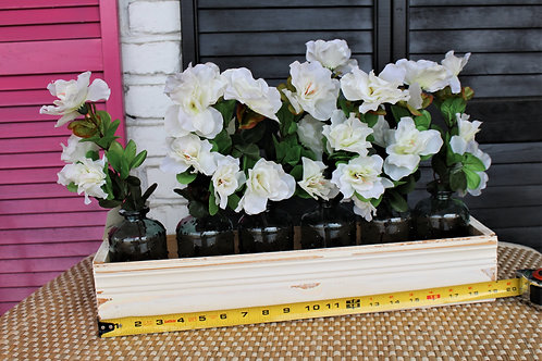"""19"""" 1/2 Long Floral Box with Bottles"""