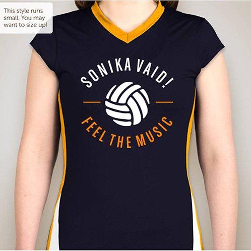 Colorblock Mesh Volleyball Shirt