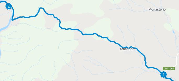 Tramo de Arbacón por la CM-1001
