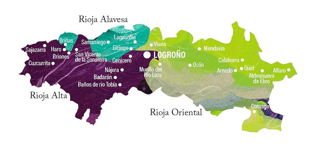 mapa rioja - vino rioja