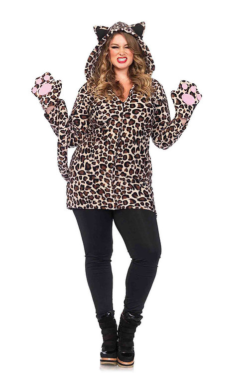 Cozy Leopard Fleece Dress