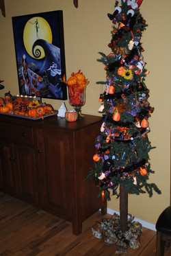 Halloween pencil tree