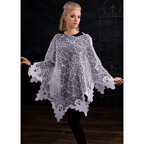 Ghost Lace Poncho