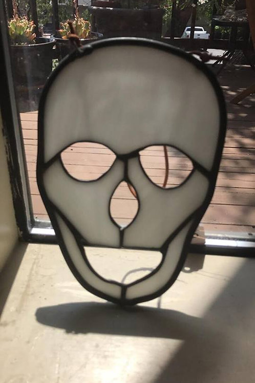 Leaded glass skull