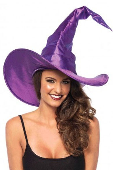 Large Ruched Purple Witch Hat