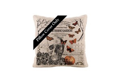 Hawthorns Garden Pillow Cover/Skull