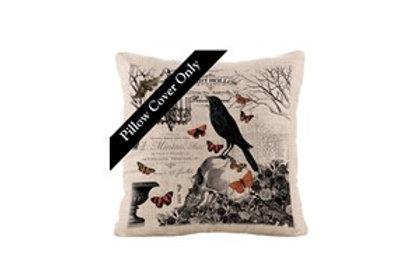 Hawthorn Gardens Pillow Cover/Raven