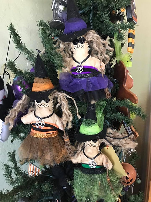 Handcrafted Witch Ornaments!