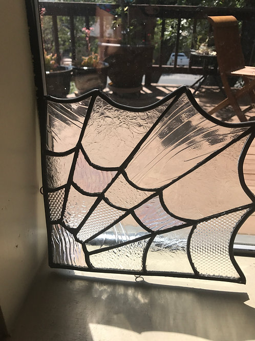 Leaded Glass Spider Web