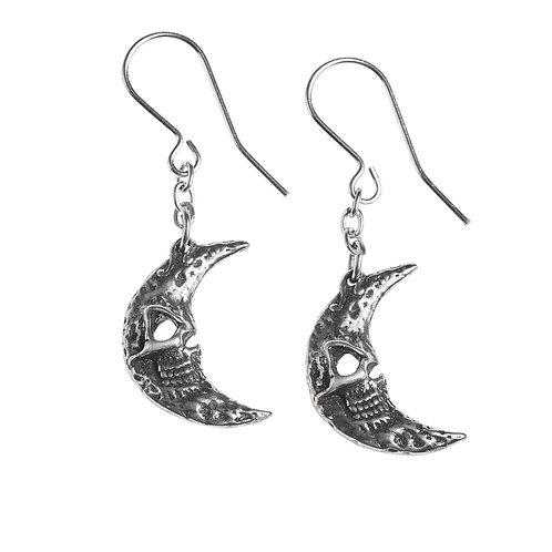 Crescent Tragicom Moon Earrings