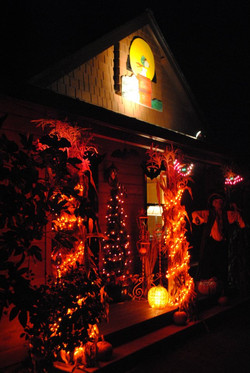 Halloween front of the house