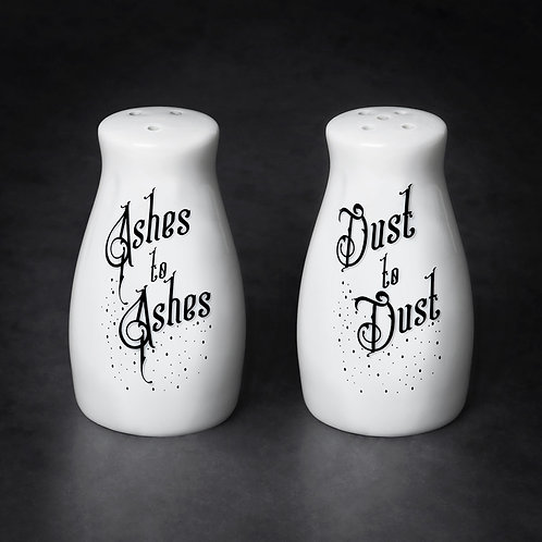 Ashes to Ashes Salt and Pepper Shakers