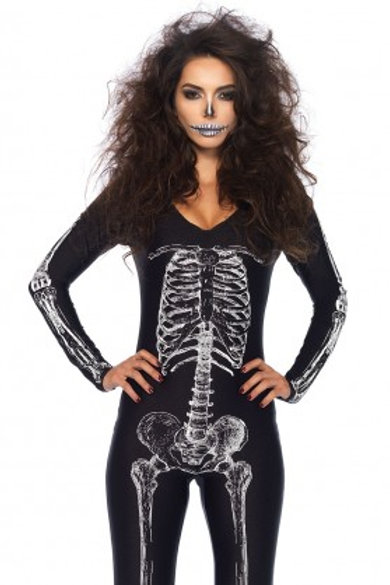 X ray Skeleton Cat Suit