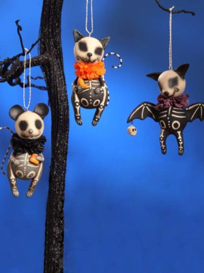 Animal Skelly Ornaments