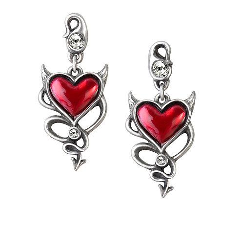 Devil Heart Earrings